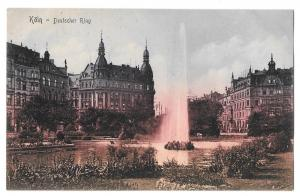 Fountain Koln Germany Cologne Deutscher Ring Vntg Postcard