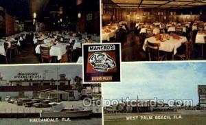 Hallandale Florida USA Maneros Restaurant Steak Filets, Old Vintage Antique ...