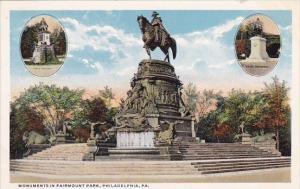 Monuments In Fairmount Park Philadelohia Pennsylvania