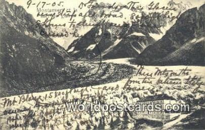 Menton, France, Carte, 1905
