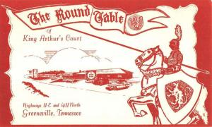 Greeneville Tennessee Round Table King Arthurs Court Antique Postcard K88193