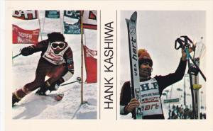 SKIING; 2-Views of Hank Kashiwa, Placing fourth on the ISRA professional circ...