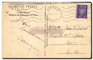 Old Postcard Lyon Rhone Monument of Legionnaires RhoneLimoges Haute Vienne La...