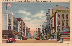 South Salina St., Looking South from Fayette St., Syracuse, N.Y., Early Postcard