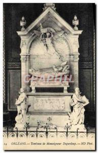 Postcard Old Orleans Tomb of Bishop Dupanloup