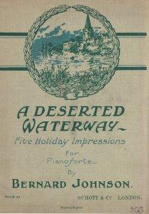A Deserted Waterway Bernard Johnson Rare Sheet Music Album Book