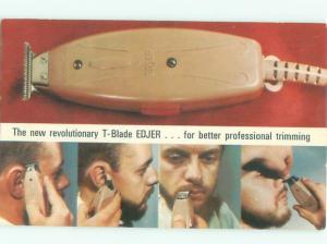 Pre-1980 This Is A Postcard MIDCENTURY MODERN MEN'S BEARD TRIMMER AC7342