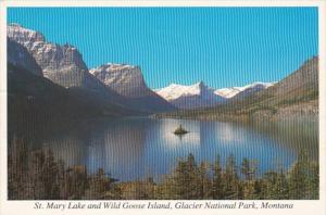 Montana St Mary Lake and Wild Goose Island Glacier National Park