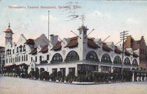 Washington Spokane Davenport's Famous Restaurant 1908