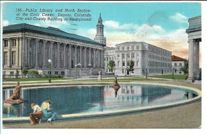 Denver, CO - Public Library and City and County Building - 1940