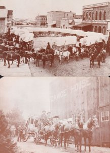 Wagons Ho Old West Collection Series Texas 2x Postcard s