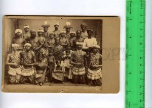 254758 Circus INDIAN Fakir and dancers Vintage CABINET PHOTO