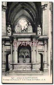 Postcard Abbey of Saint Denis Tomb of Francois ler and Claude of France