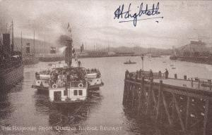 Ocean Liner Titantic Survivor signed postcard Commander A.T. Lightoller, R.N...