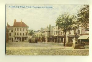 tp6790 - Staffs - The Johnson's House & Market Place, in Litchfield  - Postcard