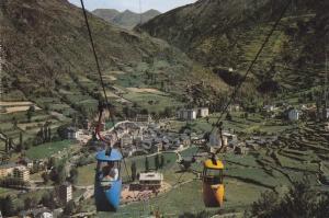 Postal 62142 : Andorra. Cabines aeries d Encamp al llac d Engolasters