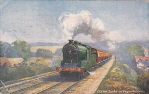 Trains London and Plymouth Express 1932 Tucks