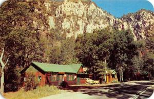 Sedona Arizona Floods Chipmunk Lodge Street View Vintage Postcard K52417