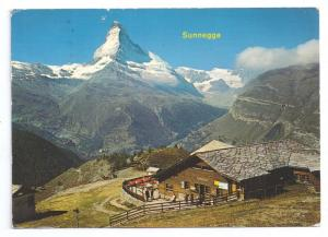 Zermatt Switzerland Sunnegga Restaurant Matterhorn 1974 4X6