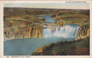 On the Old Oregon Trail Shoshone Falls Idaho 1924