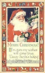 Santa Claus Chirstmas Carte, Postal Postal Unused