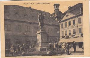 Miller Denkmal, Stadthaus, Lehrmittet-Anstalt, Coblenz, Rhineland-Palatinate,...