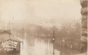 RP: COLOGNE , Germany, 1920 ; Flood Scene #2