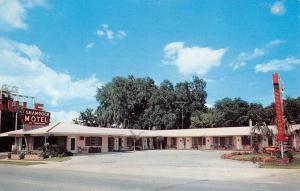 Ocala Florida Shamrock Motel Street View Vintage Postcard K92423