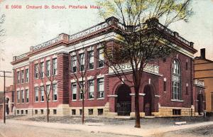 Orchard St. School, Pittsfield, Massachusetts, Early Postcard, used in 1910