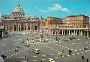 Postcard Modern Citta del Vaticano Square and Basilica of St Pierre