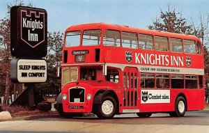 Buses/Bus Stations Post Card Knights Inn, Double Decker Bus Unused