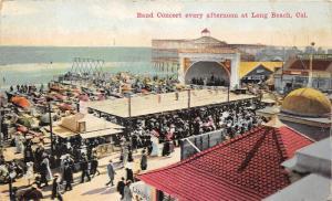 Long Beach California~Band Concert~Donatellis Italian Band~Crowd Watches~1916