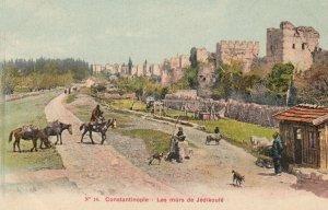 Salut de Constantinople (Istanbul) , Turkey , 1900-10ss ; Les murs de Jedikoule