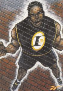 Basketball Player Allen Iverson Painted On Brick, I Will Push That Rock Thro...