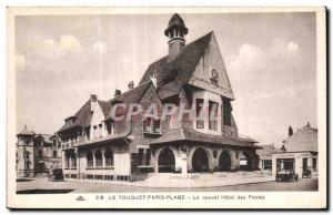 Old Postcard LE TOUQUET-PARIS BEACH - The new Hotel Post