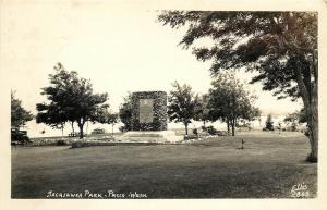 1930s Ellis RPPC Postcard 2863 Sacajawea Park & Monument Pasco WA Benton County