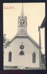 EDWARDS NEW YORK METHODIST EPISCOPAL CHURCH ANTIQUE VINTAGE POSTCARD NY