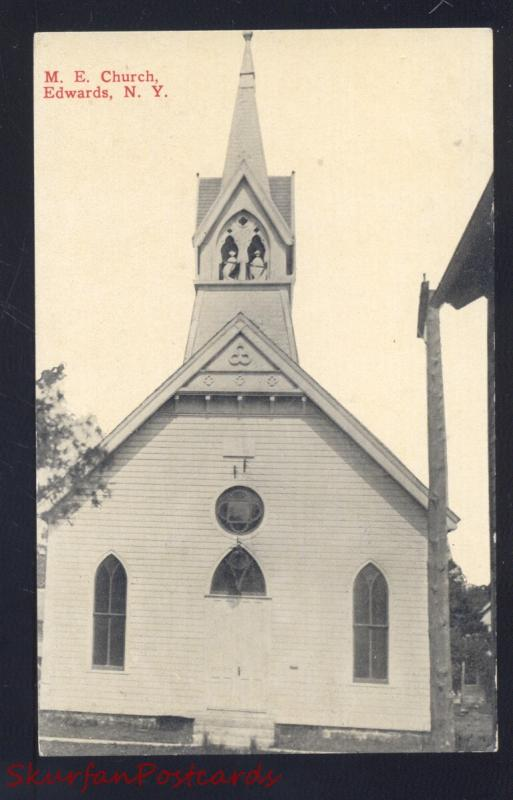 EDWARDS NEW YORK METHODIST EPISCOPAL CHURCH ANTIQUE VINTAGE