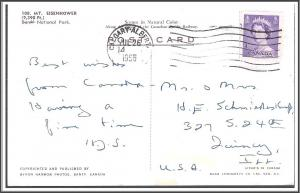 Banff Canada Mt Eisenhower Postcard
