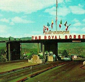 Royal Gorge Colorado CO Entrance Gate 1969 Vtg Chrome Postcard