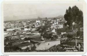 RPPC, Panorama, Toluca Mexico, Mailed ???? stamp has been removed along with can