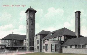Union Depot, Portland, Oregon, Early Postcard, Unused