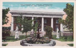 SHERMAN, Texas, 1910s; North Texas College,Lois Thompson Hall, Kidd-Key Conserva