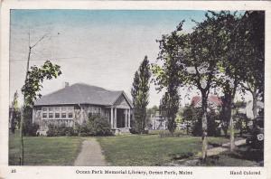 OCEAN PARK , Maine , PU-1938; Ocean Park Memorial Library