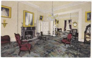 Drawing Room of The Hermitage, Nashville, Tennessee, unused linen Postcard