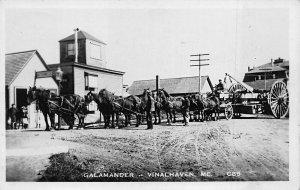 Vinalhaven ME Horse Drawn Quarry Galamander Real Photo Postcard