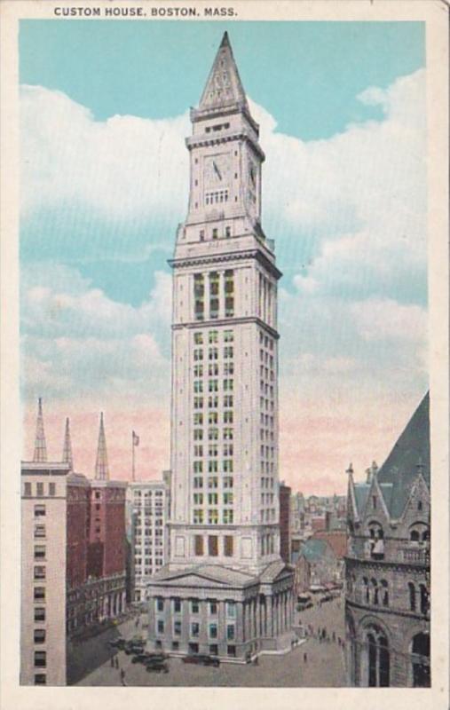 Massachusetts Boston Custom House Hippostcard