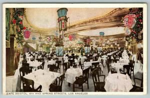 Los Angeles California~Cafe Bristol Interior~Japanese Lanterns~4th & Spring~1915