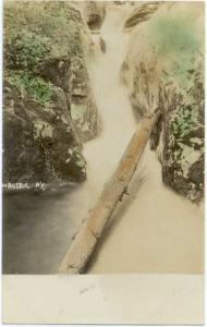 1908 Colorized RPPC, A Water Fall Somewhere near Wassaic, New York