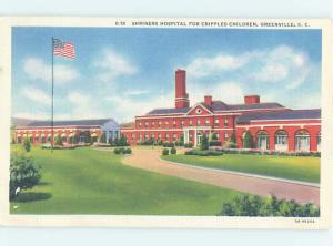 Unused Linen HOSPITAL SCENE Greenville South Carolina SC W2720